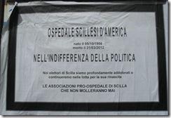 Manifesto a lutto annuncio scomparsa Ospedale di Scilla